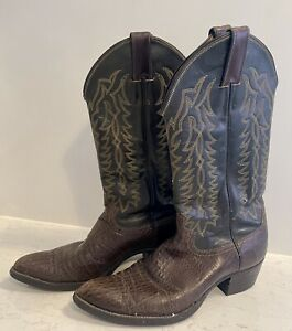 Justin Texas Vintage Cowboy Cowgirl Boots BOHO US Women's 10