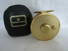 HARDY GOLD SOVEREIGN 8/9 REEL IN HARDY LEATHER/WOOL LINED POUCH  NUMBER 067