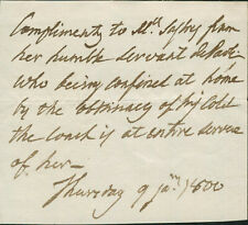 Pasquale Paoli SIGNED AUTOGRAPHED Note Corsican Reoublic Patriot & Statesman