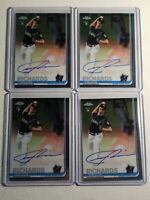 4X 2019 Topps Chrome Trevor Richards RC Autograph Marlins, Rays Auto Card Lot