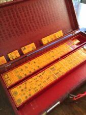 Vintage Cardinal NY MAH JONGG Mahjong All Tiles Bakelite 5 Racks  Game Set