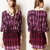 ANTHROPOLOGIE MAEVE womens size M purple petal palette tunic shirt dress