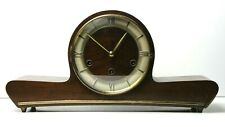 Mauthe Keywound Chiming Mantel Clock Tambour Roman Numerals Five Hammer Germany