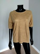 Massimo Dutti gold textured smart casual oversized top sz. S