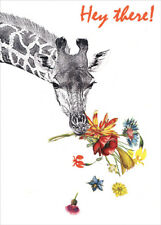 Checking in Giraffe Tree-Free Greetings Thinking of You Card