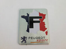 PEUGEOT SPORT BOOT BADGE EMBLEM FRENCH FLAG MAP 206 306 307 407 406 106 107
