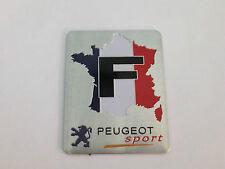 PEUGEOT SPORT BOOT BADGE EMBLEM FRENCH FLAG MAP 206 306 307 407 406 106 107