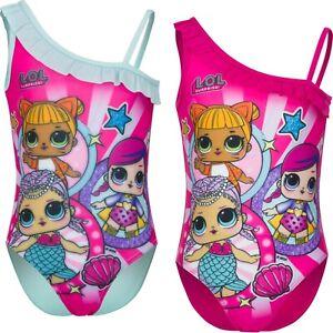 Girls Kids LOL Swimsuit OFFICIAL LOL Merchandise 3-8yrs