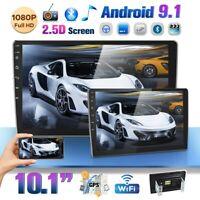 10.1'' 2 DIN Car Stereo Radio Android 9.1 GPS Navi WIFI Bluetooth FM MP5 Player