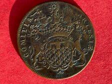 Jeton cuivre Louis XV Etats d'Artois Pas de Calais Nord Arras buste non référenc