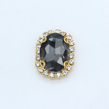 12p 18x13mm color oval sew/ stitch on faceted crystal rhinestone jewel trim Bead