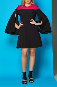 Brand new without the tags designer dress black and pink colour size 8
