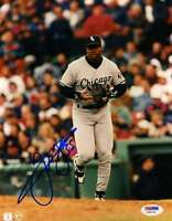 Frank Thomas Early Signed 8x10 Photo Psa/dna Authentic Autograph