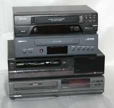 VIDEOREGISTRATORE VHS CASSETTE LOTTO 4 PEZZI- PHILIPS - SAMSUNG - DAEWOO - FUNAI