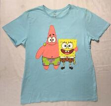 Spongebob - Sponge and Patrick - XL - Blue - Nickelodeon - 2014 - Rare Shirt