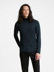 JOHN VARVATOS Artisan Luxury Ink Turtle Neck Silk & Cashmere Top RRP: £350.00