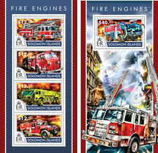 Fire Engines Special Transport Firefighters Trucks Solomon Islands MNH stamp set