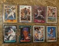 (8) David Cone 1987 Donruss Topps 1988 1989 Upper Fleer Score Rookie Card Lot RC