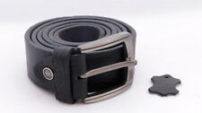Leather Belt 100% Genuine Real Full Grain one Piece Soft Mens 40 MM High Quality