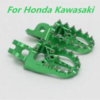 Aluminum Studed Footrest Foot Peg Pedal Green for Kawasaki KX250F KX450F KLX450R
