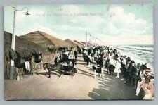 "Donkey Cart ""Attraction"" Coronado Text City San Diego Antique California 1910s"