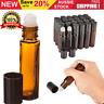10ml Roller Rollerball Bottle Perfume Essential Oil Roll On Ball Amber Glass
