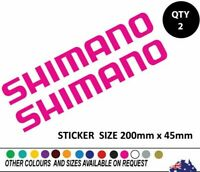 2 X SHIMANO Fishing Sticker Decal 200mm wide popular Boat Ute PINK