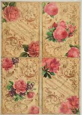 Rice Paper for Decoupage Decopatch Scrapbook Craft Sheet Vintage Flower Cards