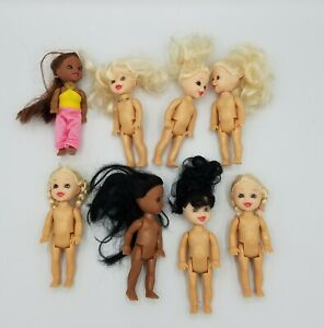 Barbie Little Sister Kelly Doll Friends Size Blond Brunnet Hair Mixed Lot of 8