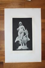 ✒ Salon de 1884 - Jules Pierre ROULLEAU Léda - sculpture gravure sur chine