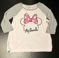 Disney Minnie Mouse T Shirt Junior Girls Small New