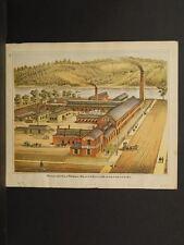 Pennsylvania Beaver County Map Western File Works Engravings 1876 Q4#79