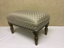 """Footstool upholstered in a Laura Ashley fabric """"Ruben"""""""