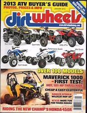 Dirt Wheels Magazine January 2013- Can-Am Maverick 1000, Polaris Ranger XP 900