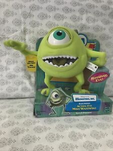 "Monsters Inc Mike Wazowski Action Eye Talking Plush Hasbro 8"" Disney Pixar 2001"