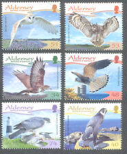 Alderney-Raptors Birds of Prey set -mnh Falcon-Owls-Buzzard etc