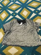 NWT Torrid Insider Collection Size 4black Short Sleeve Sequin Tee Retail $48.50