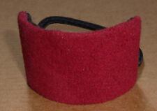 Rote Weiches Jersey Haargummi Pferdeschwanz Band Bommel