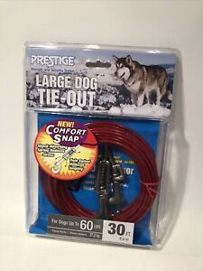 Large Heavy Duty Dog Tie Out Cable Anchor 30FT Up To 60 lbs Prestige New
