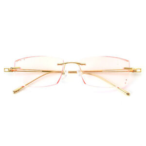 Pure Titanium Man Glasses Optical Eyeglasses Spectacles frame Rimless Eyewear