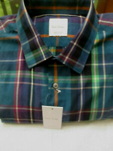 BLACK LABEL PAUL SMITH-SOHO FIT SIGNATURE PS PLAID SHIRT-$385-XL/17