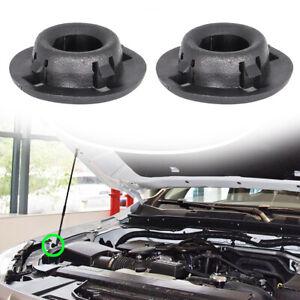 2 For Nissan Xterra Frontier Pathfinder JUKE Bonnet Hood Support Rod Clamp Clip