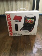 Magnavox 7 inch Portable Dvd Player New In Box red