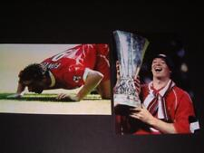 LIVERPOOL FC ROBBIE FOWLER v EVERTON 1999 'SNIFFING' & 2001 UEFA CUP FINAL PHOTO