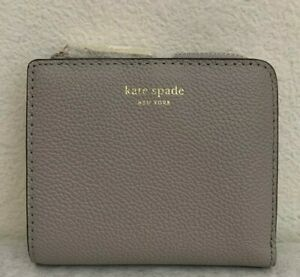 NWT Kate Spade Margaux Small Bifold Leather Wallet True Taupe $98 PWRU7160