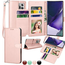 For Samsung Galaxy Note 20 Ultra Wallet Leather Folio Flip Stand Cases Cover