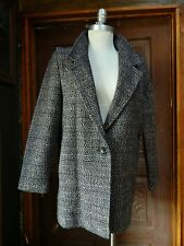 SPORTWORKS Vintage Womens Tweed Recycled Wool Outwear Thick Overcoat Size 9