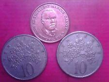 JAMAICA     10    CENTS   1969    1975    25   CENTS  1995  APR21
