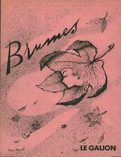"""Publicité Ancienne """" Parfum Brumes Le Galion 1959  """"  ( P. 33 ) Claude Maurel"""