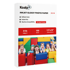 Koala 100 Sheets 13x19 Premium Glossy Inkjet Printer Photo Paper Canon Epson HP